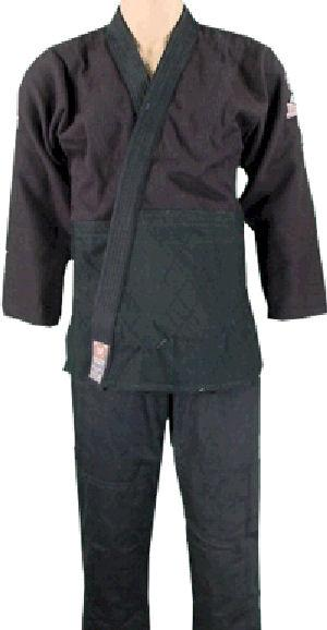 Single Weave Black Jiu-Jitsu Uniform